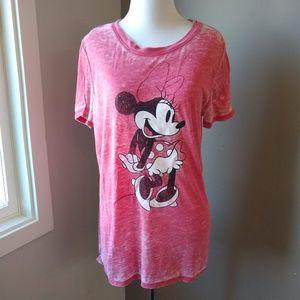 Disney Minnie Mouse Soft Red T-Shirt, Ladies M